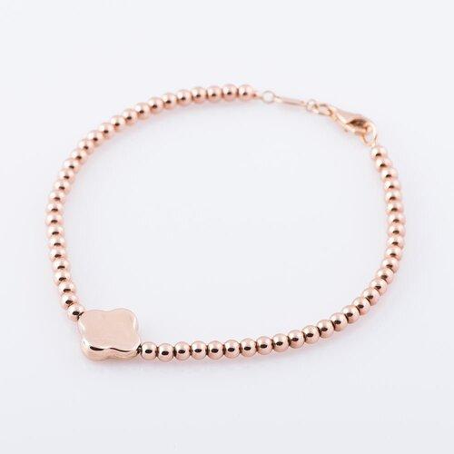 """Золотой женский браслет """"Клевер"""" б02735"""