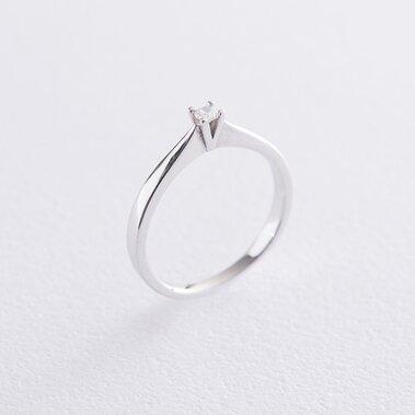Помолвочное кольцо в белом золоте (фианит) к06254