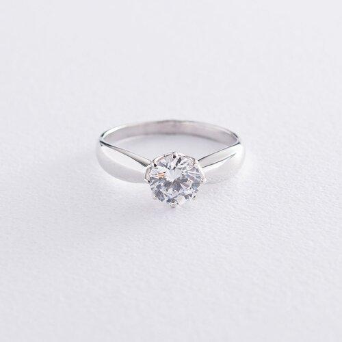 Кольцо для предложения белое золото к06592