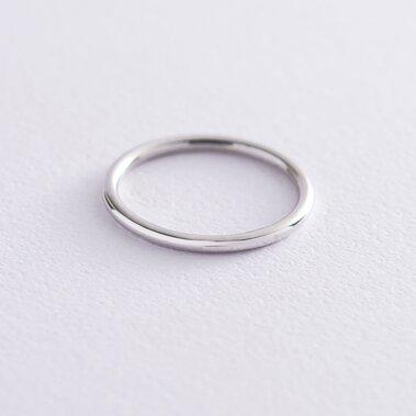 """Тонкое кольцо """"Минимализм"""" в белом золоте обр00334"""