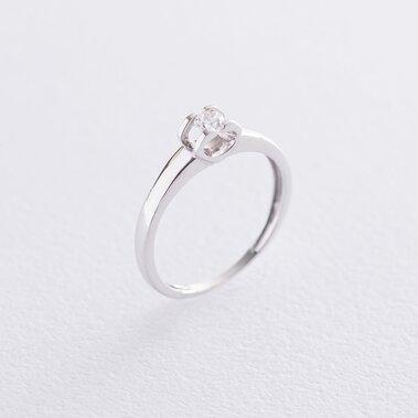 Золотое помолвочное кольцо с фианитом к06172