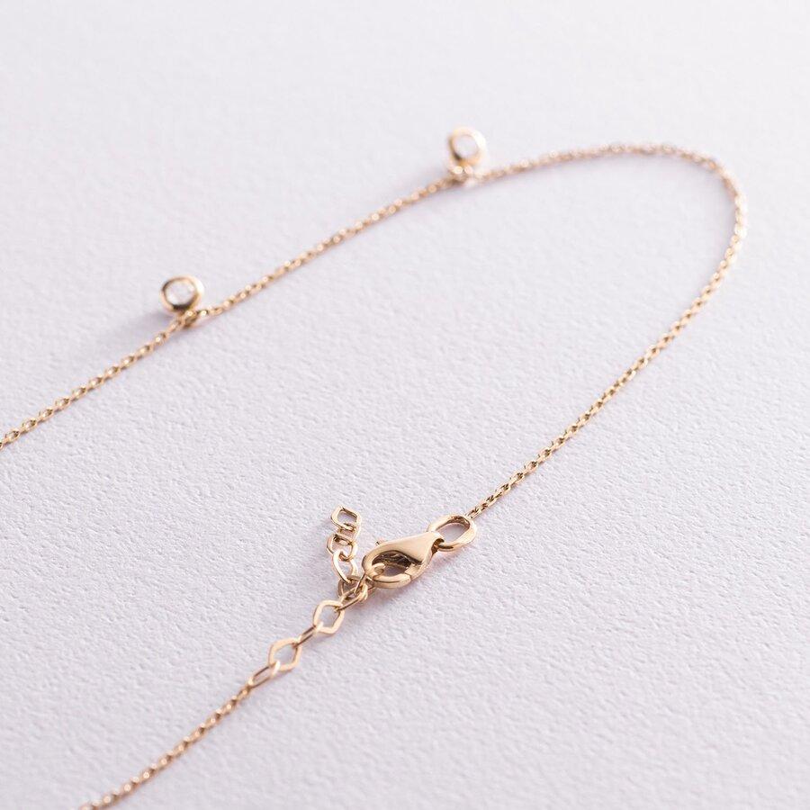 Золотое колье (фианит) кол01378