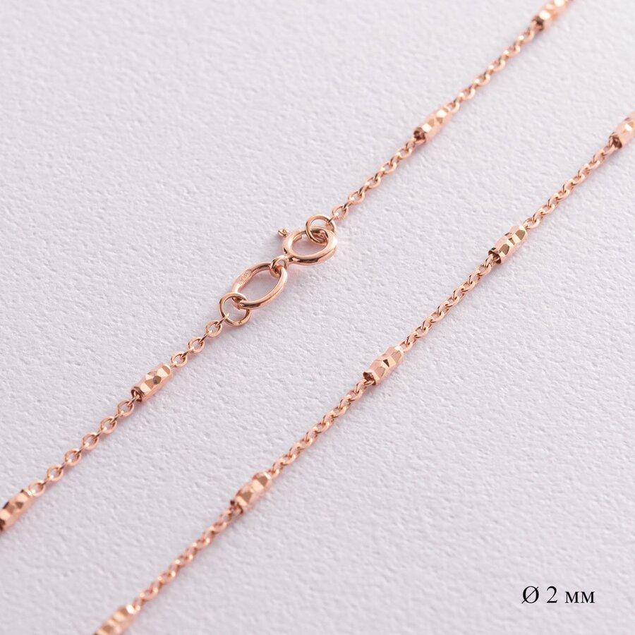 Цепочка в красном золоте (2 мм) ц00419