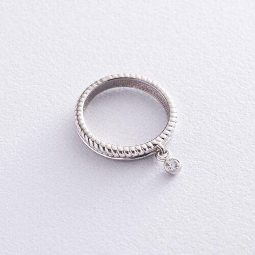 Золотое кольцо с фианитом к06597