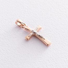 Крест с распятием (красное золото) п03317