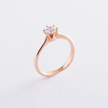Золотое помолвочное кольцо (циркон Swarovski) к06227