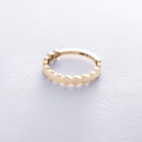 Золотое кольцо без камней к06214
