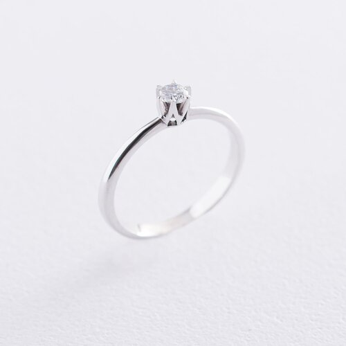 Золотое помолвочное кольцо (фианит). к05981