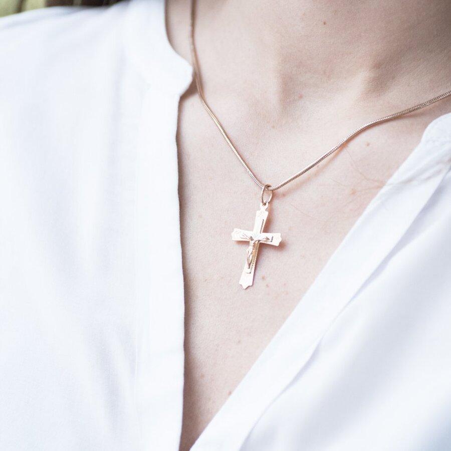 Золотой крестик п02293
