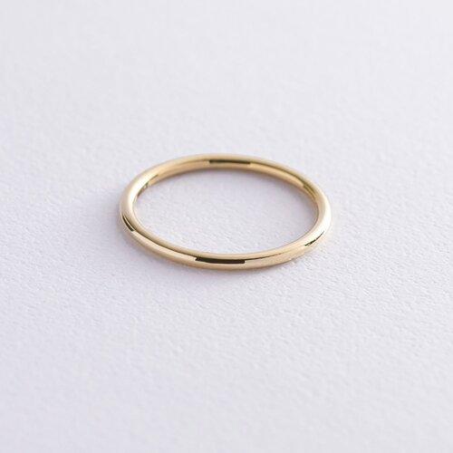"""Тонкое кольцо """"Минимализм"""" в желтом золоте обр00333"""