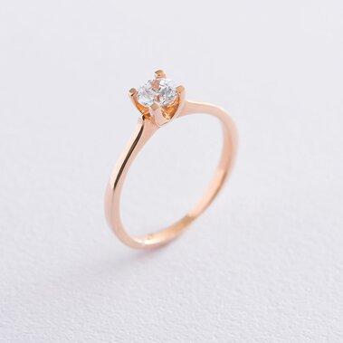 Золотое помолвочное кольцо (циркон Swarovski) к06229