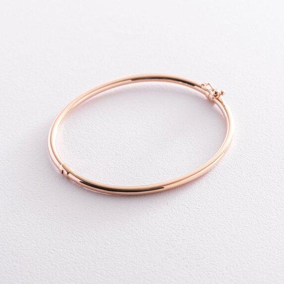 Жесткий браслет в красном золоте б04484