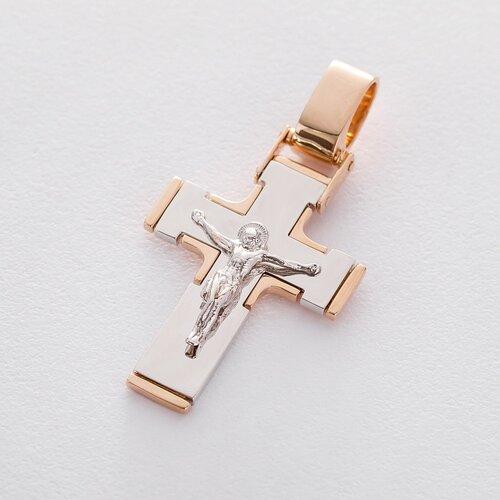Золотой православный крест с распятием п03212