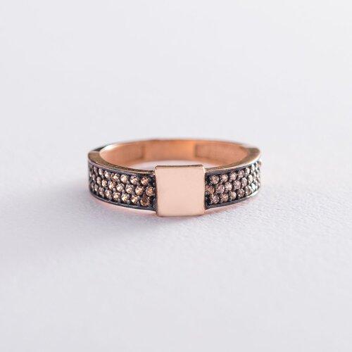 Золотое кольцо с фианитами. к05997