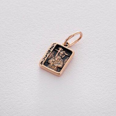 Золотая ладанка с чернением п03246