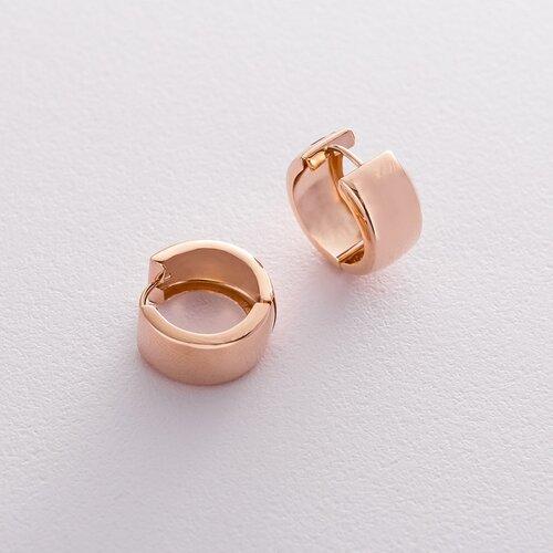 Золотые серьги - кольца без камней. с01677