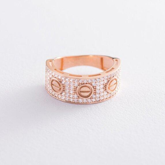 Золотое кольцо с фианитами к05225