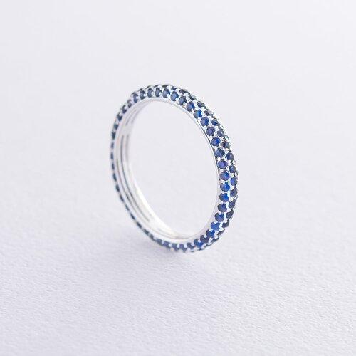 Золотое кольцо с синими сапфирами кб0244sth