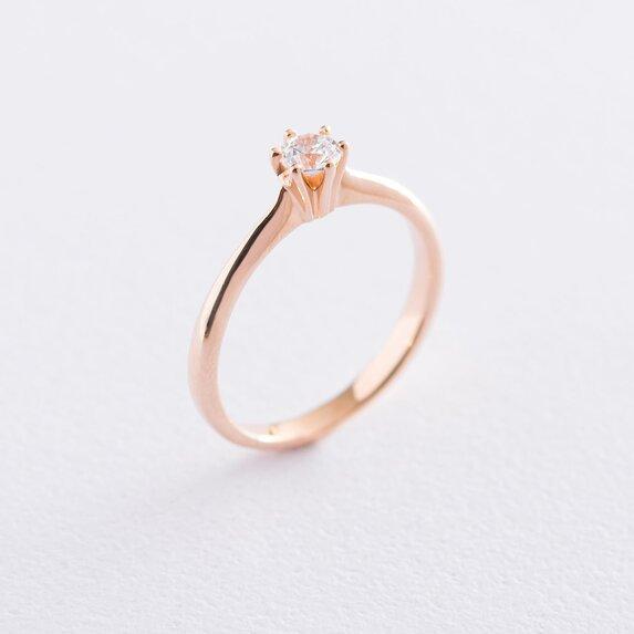 Золотое помолвочное кольцо (куб. циркон Swarovski) к06241
