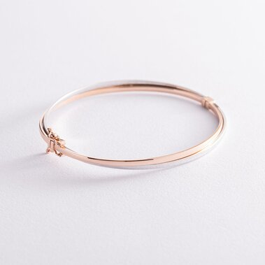 Жесткий золотой браслет б04785