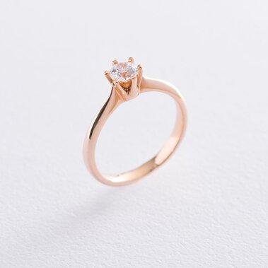 Золотое помолвочное кольцо (циркон Swarovski) к06256