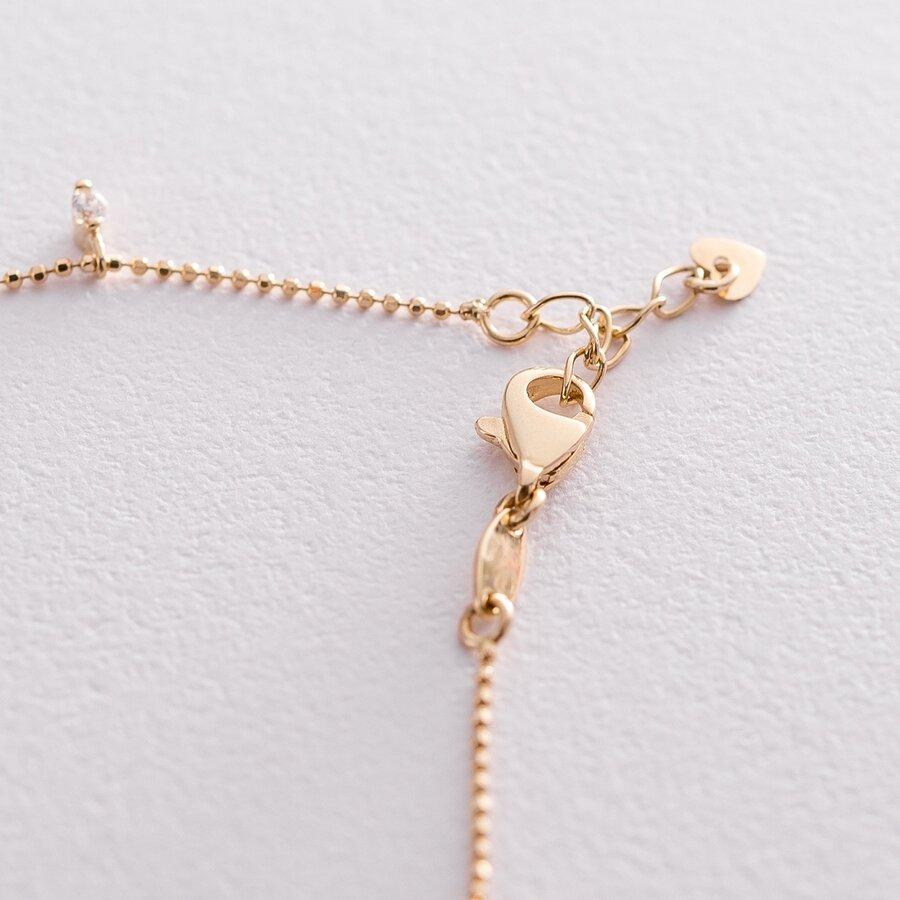 Золотой браслет с фианитами б04218