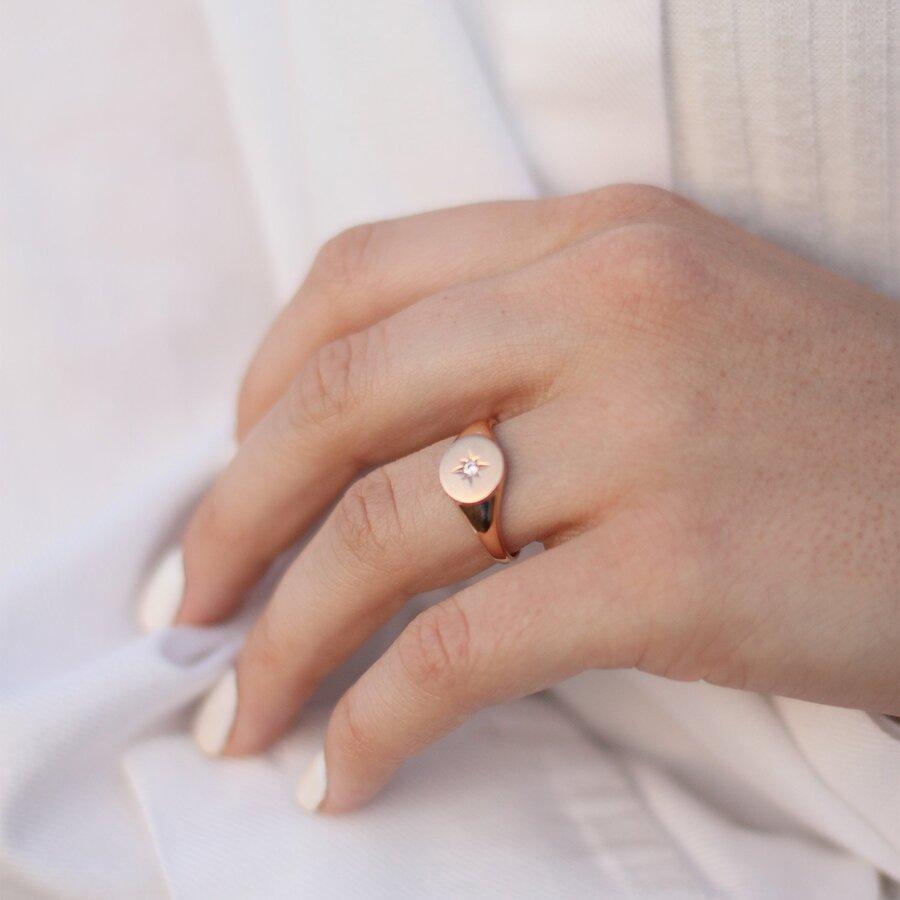 """Золотое кольцо """"Полярная звезда"""" к06604"""