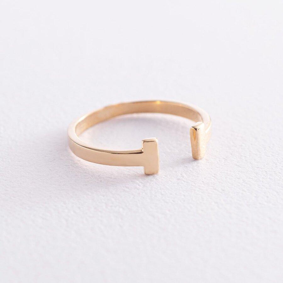 """Золотое кольцо """"Т"""" к04818"""