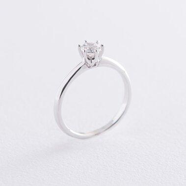 Помолвочное кольцо в белом золоте (куб. цирконий Swarovski) к06322