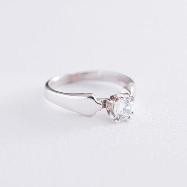 Золотое помолвочное кольцо с фианитом к06171