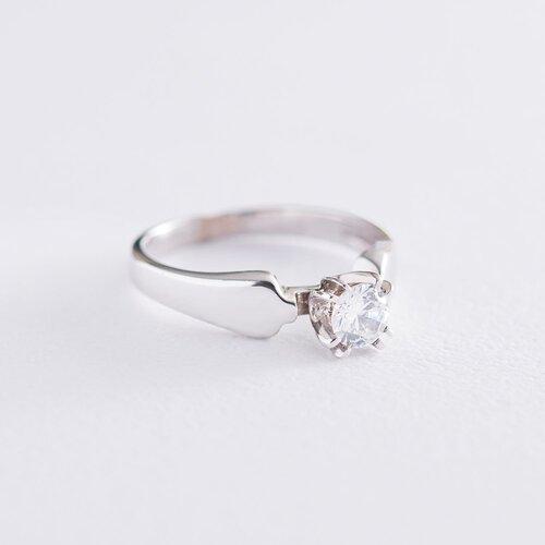 Золотое помолвочное кольцо с фианитом. к06171