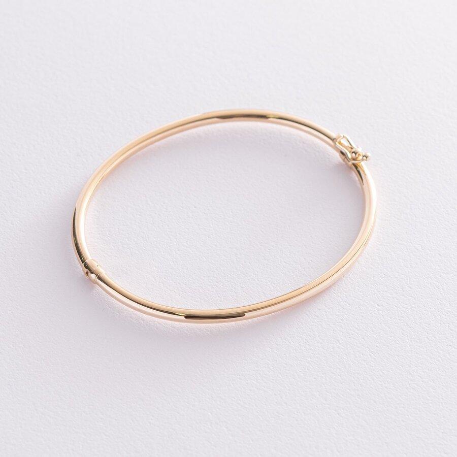 Жесткий браслет в желтом золоте б04751