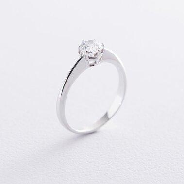 Помолвочное кольцо в белом золоте (куб. цирконий Swarovski) к06311