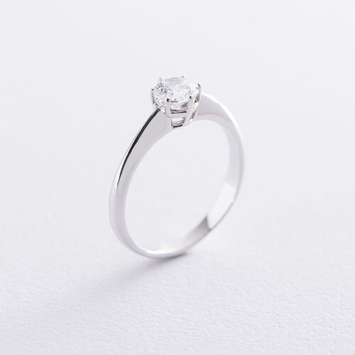 Кольцо из белого золота с камнем Сваровски к06311