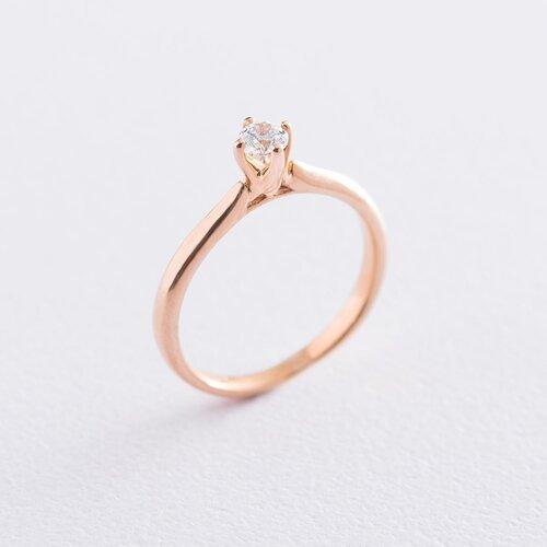 Золотое помолвочное кольцо (циркон Swarovski). к06228