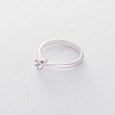 Золотое помолвочное кольцо (циркон Swarovski) к06297