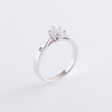 Помолвочное кольцо в белом золоте (фианит) к06507