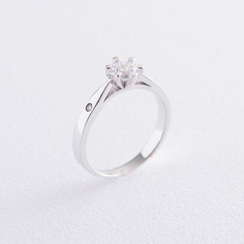 Кольцо для помолвки белое золото к06507