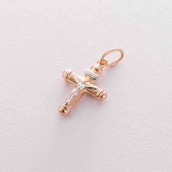 Золотой крестик с распятием п01396
