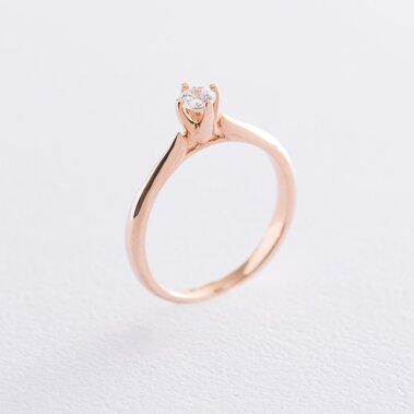 Золотое помолвочное кольцо с фианитом к06238