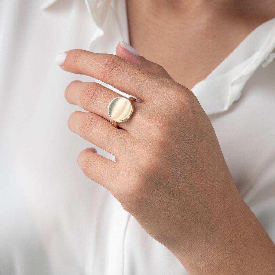 """Кольцо """"Давина"""" в желтом золоте (фианиты) к06893"""