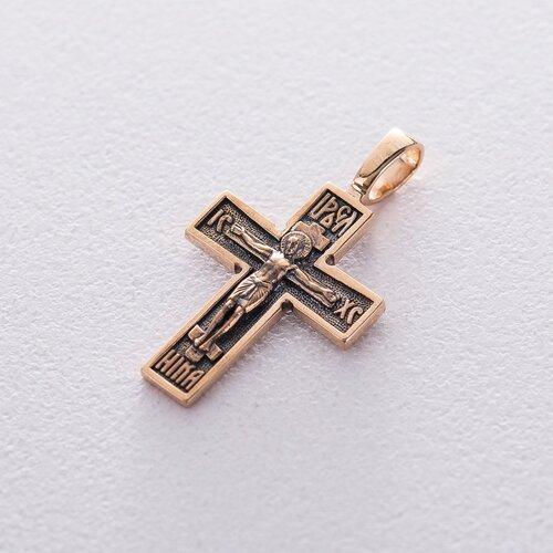 Золотой крестик с чернением. п01406