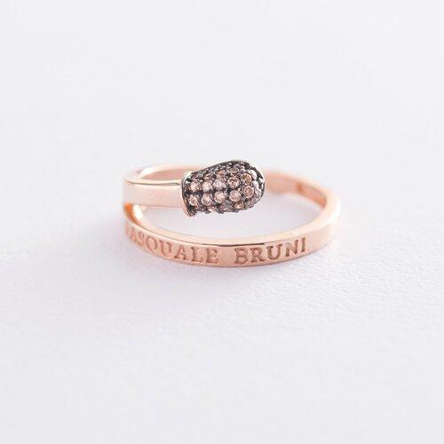 """Золотое кольцо """"Спичка"""" (фианиты) к06265"""