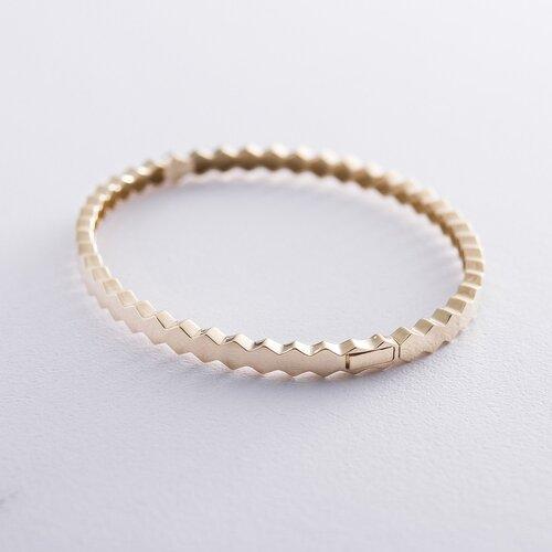 Жесткий золотой браслет. б04080