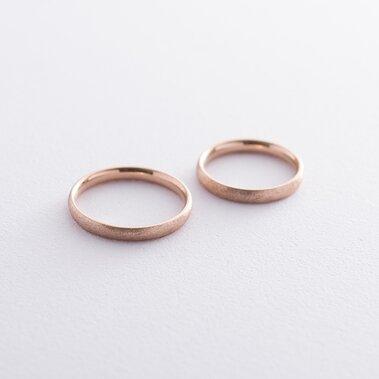 Золотое обручальное кольцо 3 мм (фантазийный мат) обр00406