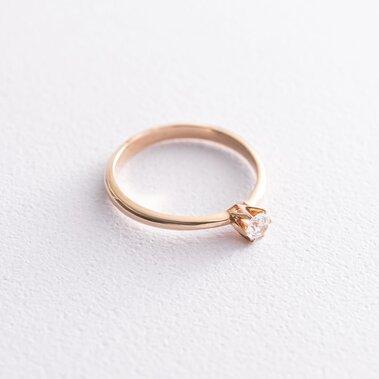 Золотое помолвочное кольцо (фианит) к05963