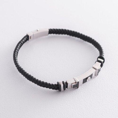 Каучуковый браслет (эмаль, фианит) б03988