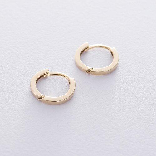 Серьги-кольца в желтом золоте с06457