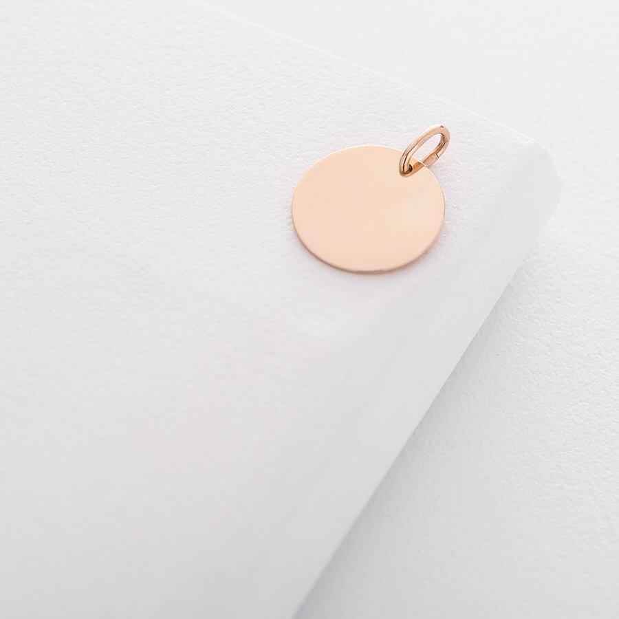 Кулон для гравировки в красном золоте (17 мм) п03611