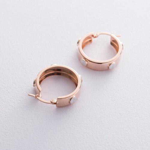 Золотые серьги - кольца с06670
